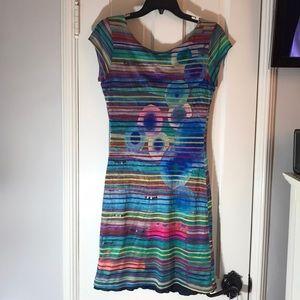 Desigual multicolor lined dress M
